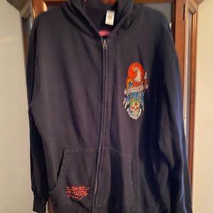 Ed hardy jacket with hood